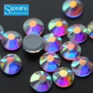 Swainstone SS34 Crystal AB Hotfix Rhinestone Double Glue