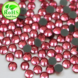 SS6-SS30 Rose Low Lead Hotfix Korean Strass