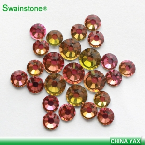 Swainstone SS6-SS30 Rainbow Color YAX Hotfix Rhinestone Double Glue